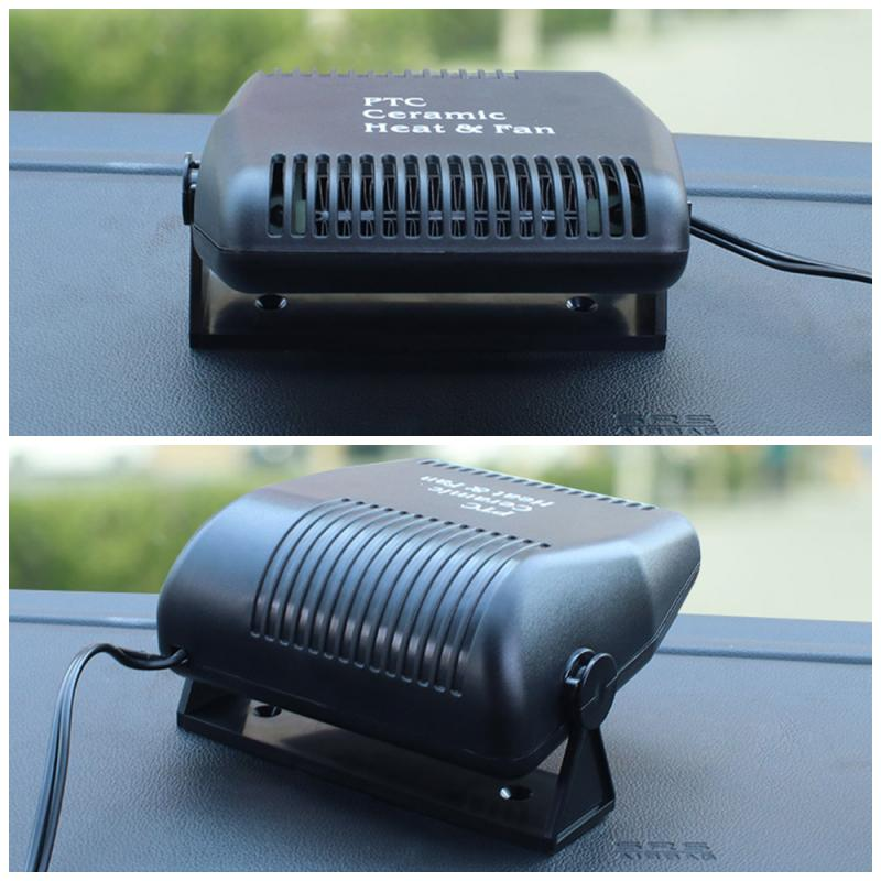 12V 150W Car Heater Portable Car Defogger Defroster Car Heat Cooling Fan with 180 Degree Adjustable Base for Windshield