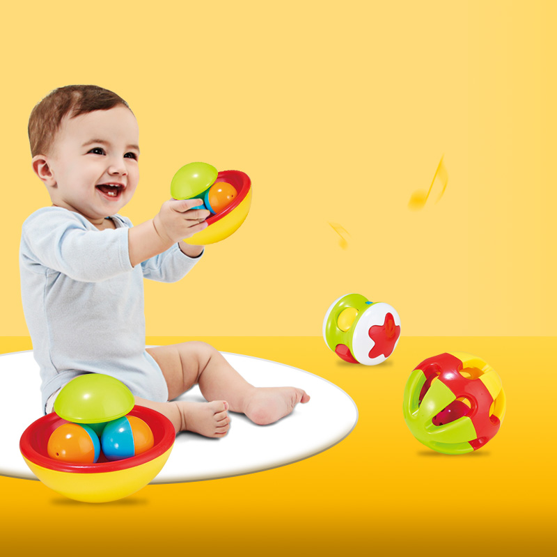 Children's Educational Toys Dingdong Ball Rolling Ball Baby's Hand Holding Rattle Ball Toys Crawling Toys Newborn Toys
