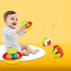 Giocattoli Educativi per Bambini Dingdong Sfera di Rotolamento Della Sfera Del Bambino a Mano in Possesso di Palla Sonaglio Giocattoli Strisciando Giocattoli Giocattoli Neonato