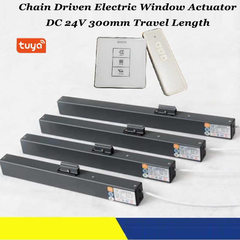 Открывалка окна Tuya с Wi-Fi, привод для тента, привод для открывания окон с цепью, автоматическое открытие, дистанционное управление, автоматизация дома