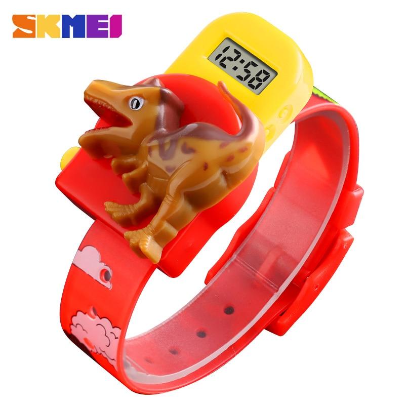 SKMEI Kids Watches Cute Child Cartoon Creative Dinosaur Model Boys And Girls Children Watch Sport Digital Wrist Watches Relojes