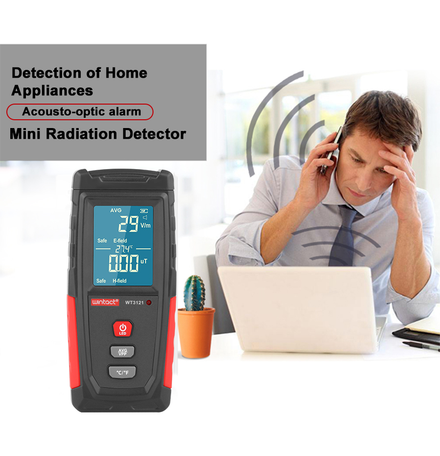 RZ Electromagnetic Field Radiation Detector Tester Emf Meter Rechargeable Handheld Portable Counter Emission Dosimeter Computer