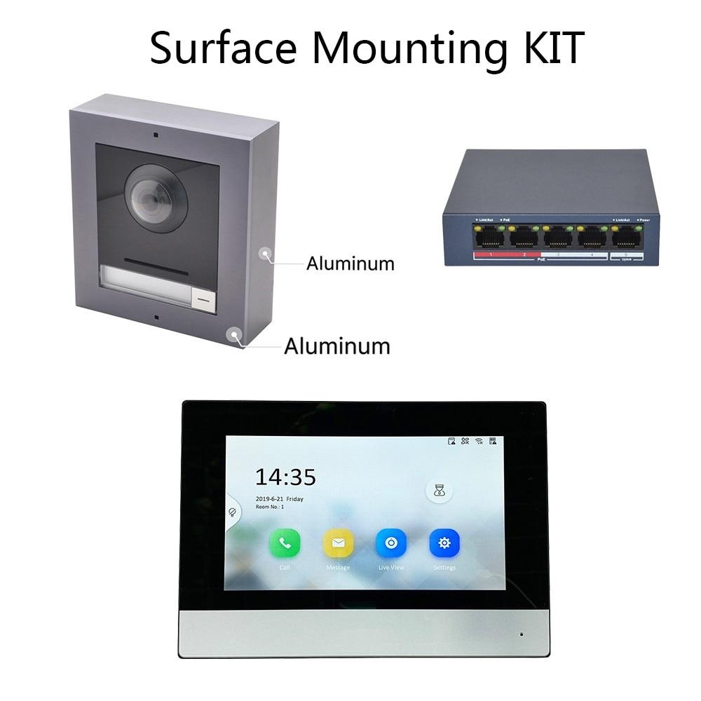 Hik Original Multi-language  802.3af POE  Video Intercom KIT,IP Doorbell,Outdoor Camera And WiFi Indoor Monitor