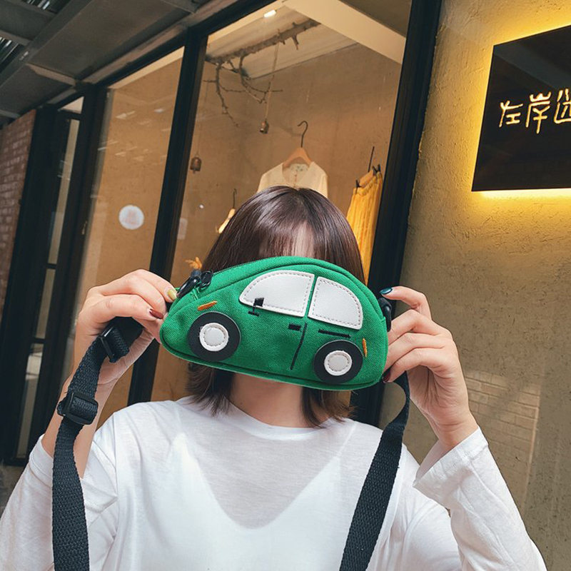 Fashion New Waist Packs Canvas Car Desiger Cute Child Pockets Boys Girls Versatile Super Cute Coin Purse Chest Waist Bag Female
