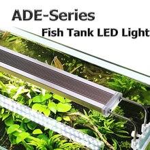 220 В аквариум светодиодный свет супер тонкий аквариума водное растение Grow Lighting Водонепроницаемый яркая лампа на прищепке 28 75 см аквариумные украшения