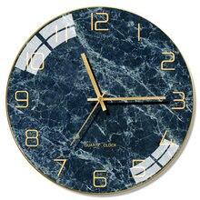 Horloge murale en verre nordique moderne, décoration créative pour la maison, salon, cadeau, FZ729