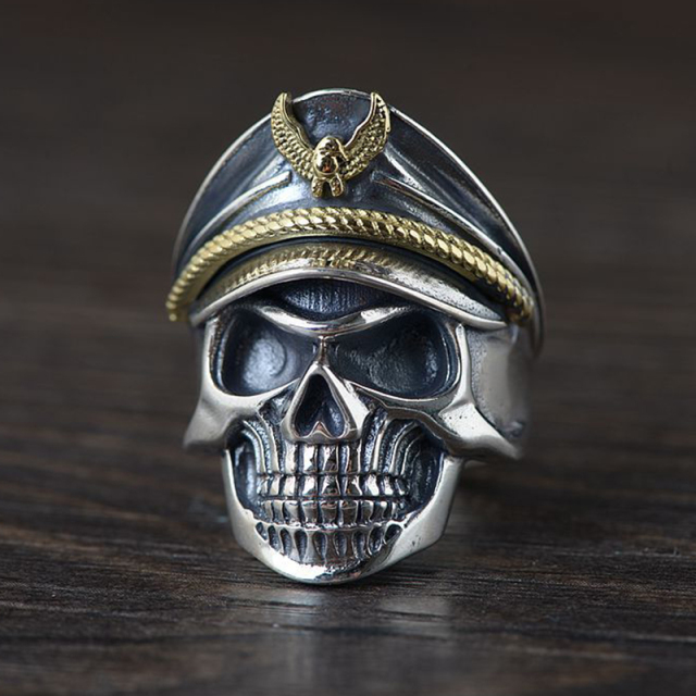 ORIGINAL 925 STERLING SILVER SKULL SOLDIER RINGS