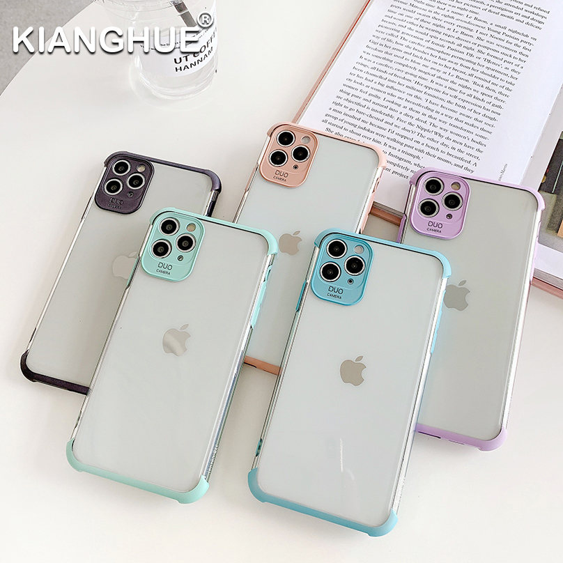 Luxury Silicone Case For Iphone 11 Pro Xs Max X Xr Transparent Soft Shockproof Case For Iphone Se 2020 7 8 Plus Ultra Thin Coque
