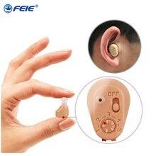 Fones de ouvido surdos recharegeable auditiva aide carregador usb dispositivo de escuta invisível máquina da orelha melhor venda em américa S 219