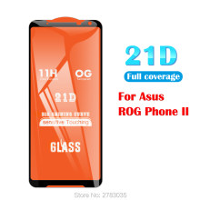 "1/2/3/5/10 Pcs For Asus ROG Phone 2 II ZS660KL 6.59"" 21D 9D Full Glue Cover Toughened Tempered Glass Film Screen Protector Guard(China)"