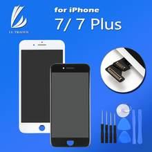 Aaa qualidade display lcd tela para iphone 7 mais pantalla tela lcd substituição de toque preto/branco conjunto completo digitador