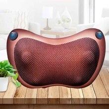 Almofada massageadora automotiva elétrica, aparelho massageador com infravermelho, para relaxamento do pescoço, ombro e casa