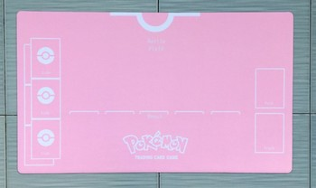 Takara Tomy PTCG Accessories Pokemon Playmat Table Card Game For Girl Trainer Trainer Pink Card Mat Toys for Children many playmat choices 565 mtg board game mat table mat for magical mouse mat the gathering