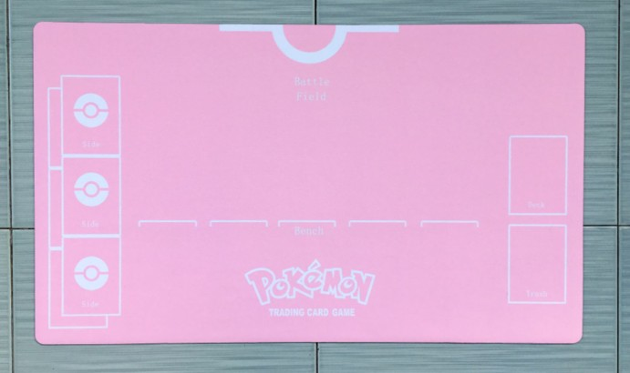 Takara Tomy PTCG Accessories Pokemon Playmate Table Card Game For Girl Trainer Trainer Pink Card Mat Toys For Children