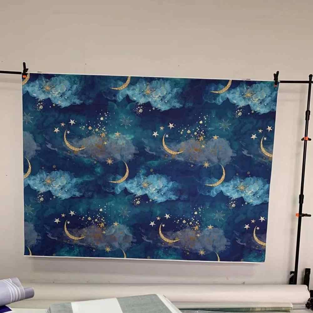 Luna de Oro estrellas Flash recién nacido telón de fondo para fotografía Baby Shower cumpleaños PartyChildren FONDO DE ESTUDIO foto de fondo