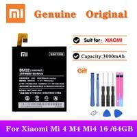 100% 원래 XiaoMi 전화 BM32 배터리 Xiaomi Mi 4 M4 Mi4 16GB 64GB BM 32 실제 용량 3000mAh 교체 배터리 akku