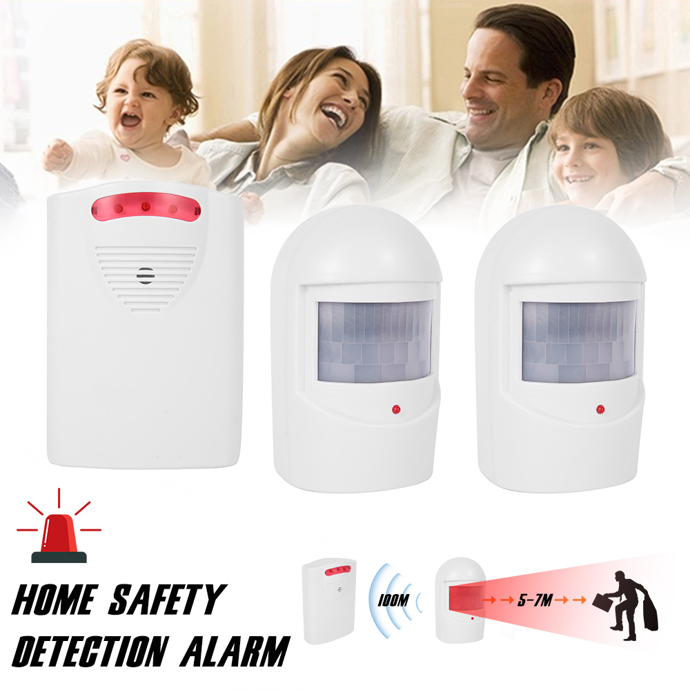 Wireless Home Security Motion Detector Alarm PIR MP Alert Infrared Sensor Anti-theft Motion Detector Alarm System Siren