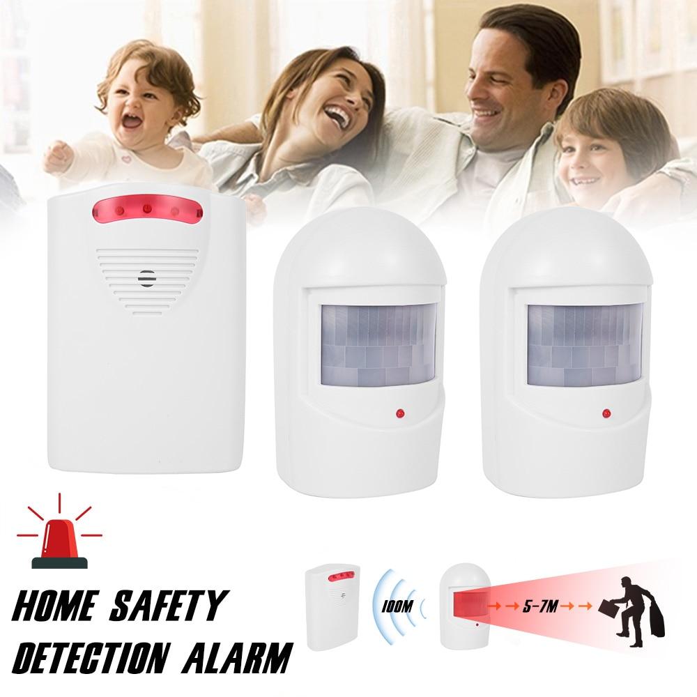 Wireless Home Security Motion Detector Alarm PIR MP Alert Infrared Sensor Anti-theft Motion Detector Alarm System Siren