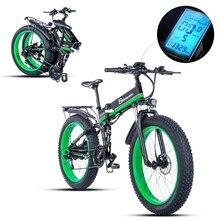 Электрический велосипед 1000 Вт, Электрический пляжный велосипед 4,0, электрический велосипед с толстыми шинами, 48 В, Мужской горный велосипед, снежный электровелосипед, 26 дюймов
