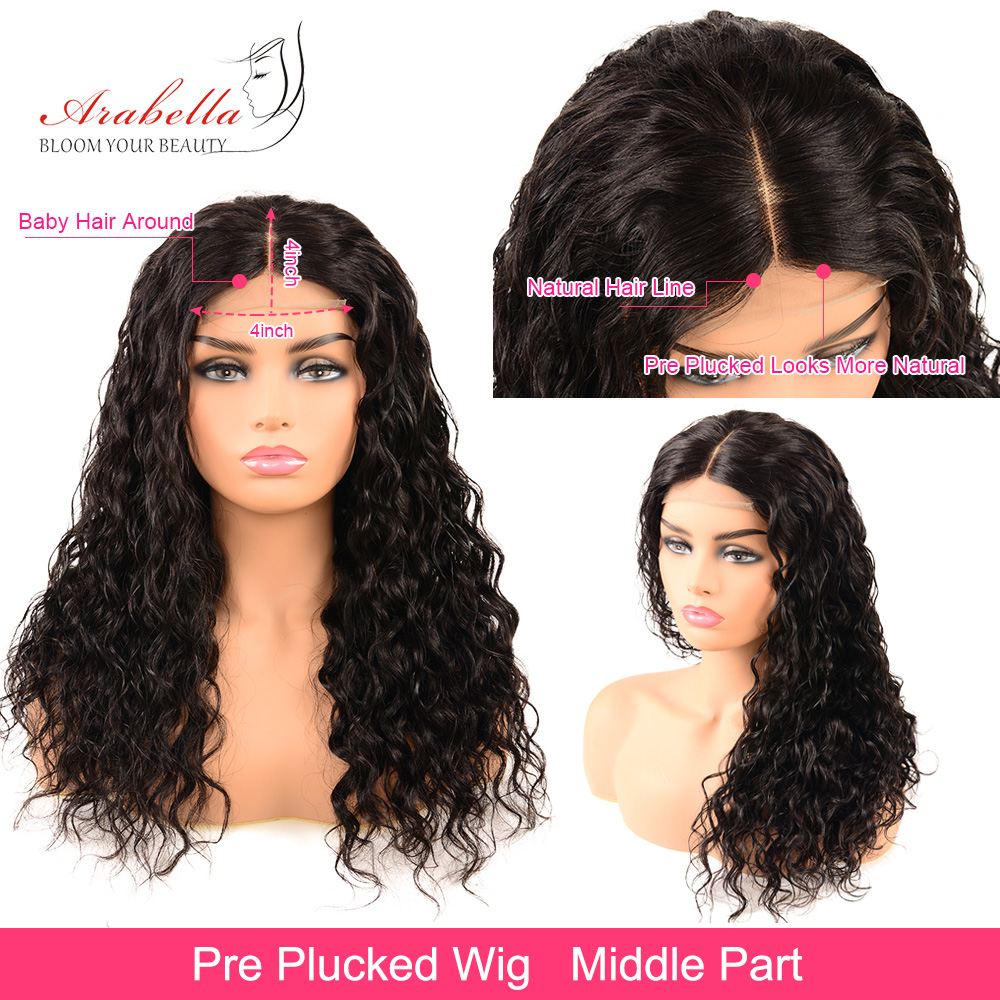 Water Wave Lace Front Wig 13X4 Arabella Wig PrePlucked   Wigs With Baby Hair Lace Closure Wig 3
