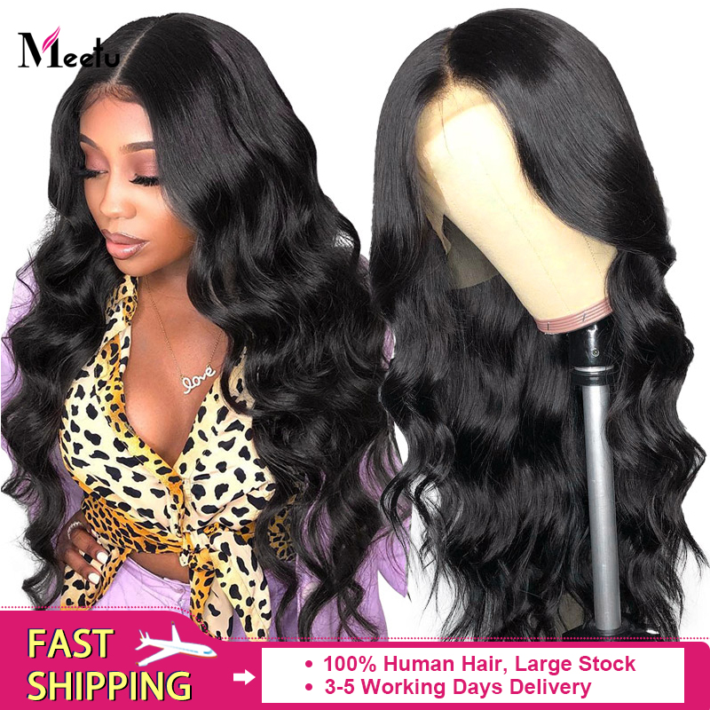 Meetu Body Wave Wig Human Hair Wigs For Black Women 360 Lace Frontal Wigs  Pre Plucked Wig Brazilian Remy 13x6 Lace Front Wigs