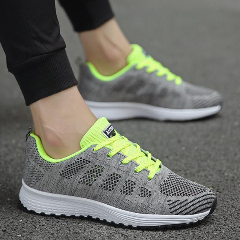 Women Casual Shoes Fashion Breathable Walking Mesh Flat Shoes Woman White Sneakers Women 2020 Tennis Feminino Gym Shoes Sport