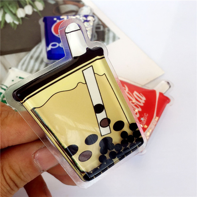 Mobile Phone Holder Universal Ring Bracket Powder Into Oil Liquid Quicksand Cartoon Oil Pack Smartphone And Tablet Foldable