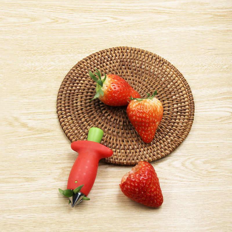 1 個イチゴ殻むき機フルーツ掘削ツールトマトコアドライ削除果物ナイフキッチンアクセサリーフルーツガジェット