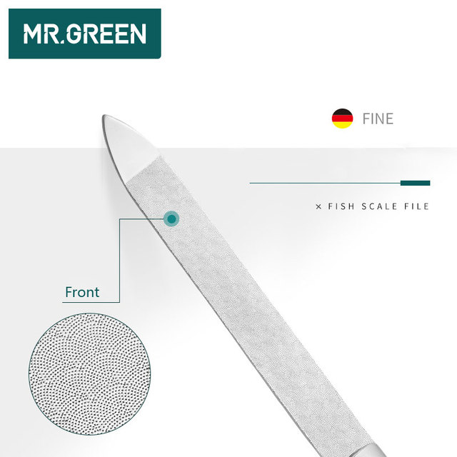 MR.GREEN Durable Nail File Stainless Steel Professional Double Sided Nail Sanding Grinding Buffer Manicure Nail Art Tools 3