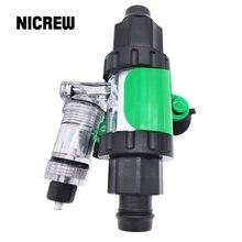 Nicrew difusor de co2 externo, kit reator para aquário, sistema de co2, atomizador e difusor para tanque de peixes, plantas aquáticas
