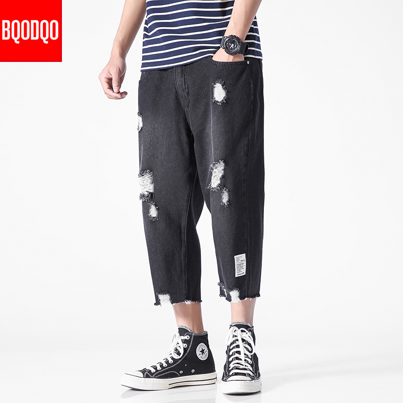 XL Blue Denim Jeans Men Ripped Pant PLUS SIZE  Spring Vintage Pants Male Hip Hop Autumn Zipper Streetwear Stretch Brand Trousers