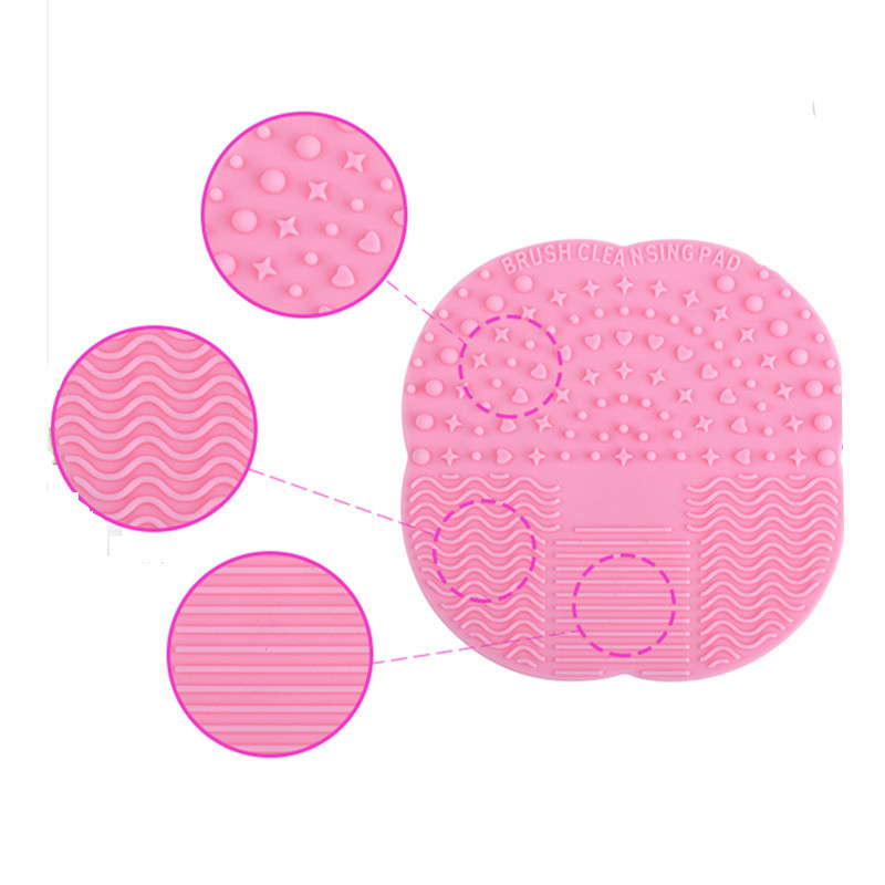 50 PCS Manufacturer Spot Wholesale Silicone Wash Cushion Blasting Models Drying Tools Makeup Brush Cleaning Suction Cup Mat