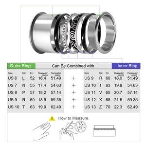 Image 5 - Floya Zwarte Ring Rvs Vintage Verwisselbare Ringen Set Vrouwen Stapelbaar Band Ring Luxe Pakket Anillos Mujer