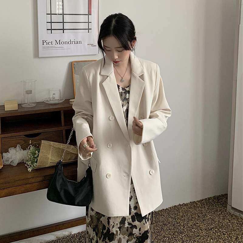 2020 New Hongkong Style Oversized Women Blazers And Jackets Long Sleeve White Casual Chaqueta Mujer Blazer Feminina