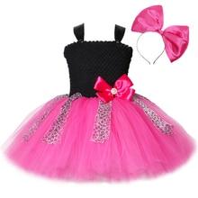 Lol vestido de tutú para niña, vestido de tul con lazo de leopardo, vestido de fiesta de cumpleaños para niña, disfraz de Halloween Lol