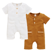 Baby Boys Girls Romper Summer Infant Cotton Unisex Newborn Rompers New Born Baby One-piece  Jumpsuit Baby Boy Clothes Outfit D30 newborn baby rompers 2017 new baby girls boys cotton feather romper clothes kids sleeveless one piece infant jumpsuit for 0 3y