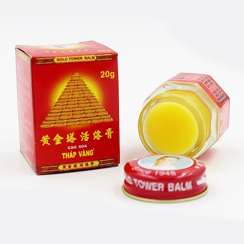 2pcs Vietnam Gold Tower Balm Tiger Balm Massage Active Cream Muscle Pain Arthritis Medicine 20g