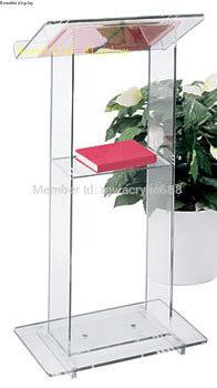 Free Shipping Beautiful Simplicity Cheap Acrylic Podium Pulpit Lectern Podium Plexiglass