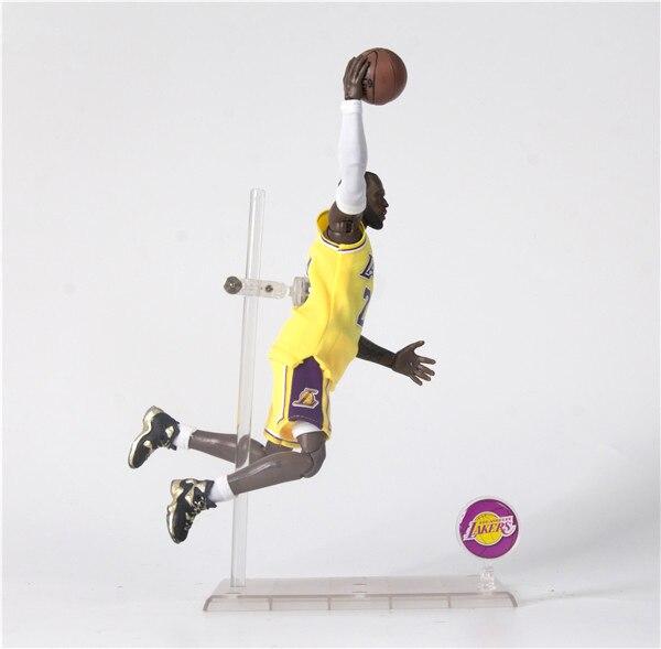 NBA 1/9 Lakers 2 Generation LeBron James 23 Yellow Really Clothes Mobile Garage Kit Model