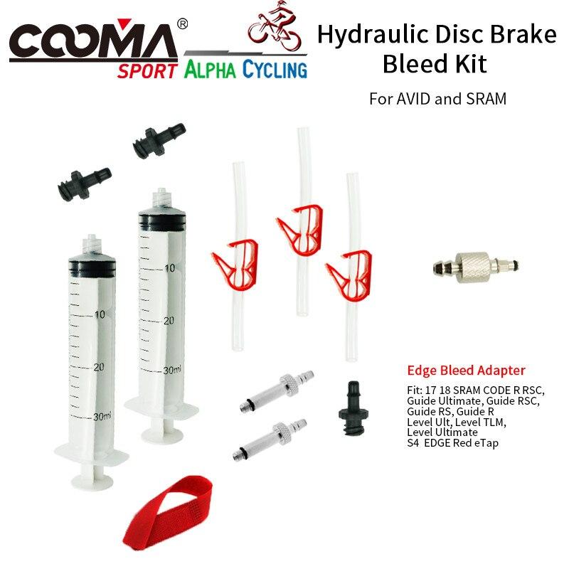 Fahrrad Hydraulische Bremse Bleed kit für AVID und SRAM S4 RAND code GUIDE rsc R Ebene ULT tlm Rot eTap, grundlegende Version, V0.9