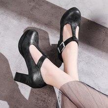 Sandalias de moda clásicas sandalias de Punta redondas transpirables de Color puro cómodas sandalias ligeras oscuras zapatos de tacón para mujer