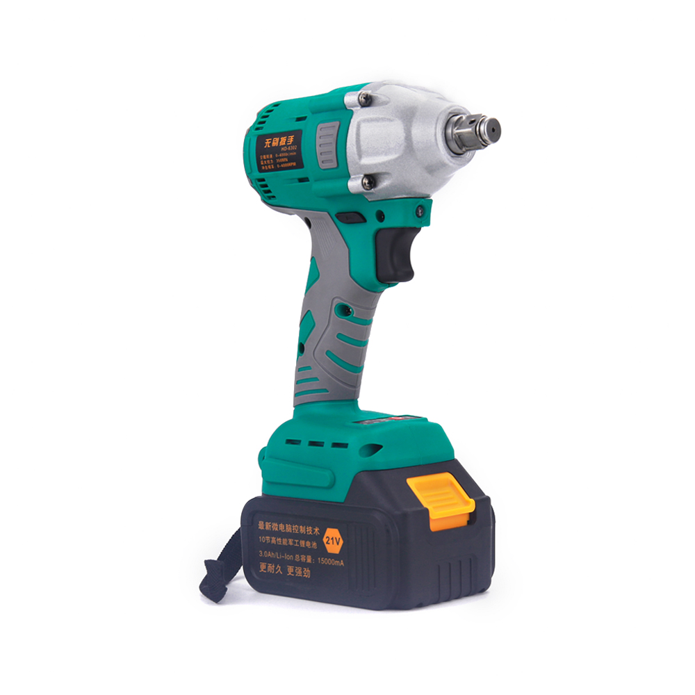 ALLSOME 350NM Brushless Cordless Electric Impact Wrench 1/2 inch Adjustable Speed Li-ion Battery Power Tools 21V 350NM