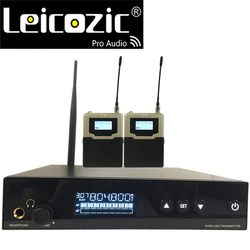 Leicozic Professional in ear monitor L560 iem In-Ear Personal Monitor Wireless System stage monitor 2 receiver with ear phone