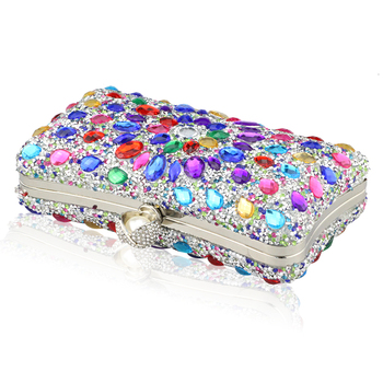 Diamond Crystal Candy Colored Clutch  6