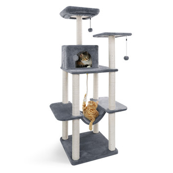 Cheap Cat Toy Scratching Wood Climbing Tree Cat Jumping Toy with Ladder Climbing Frame Cat Furniture Scratching Post 3 Color