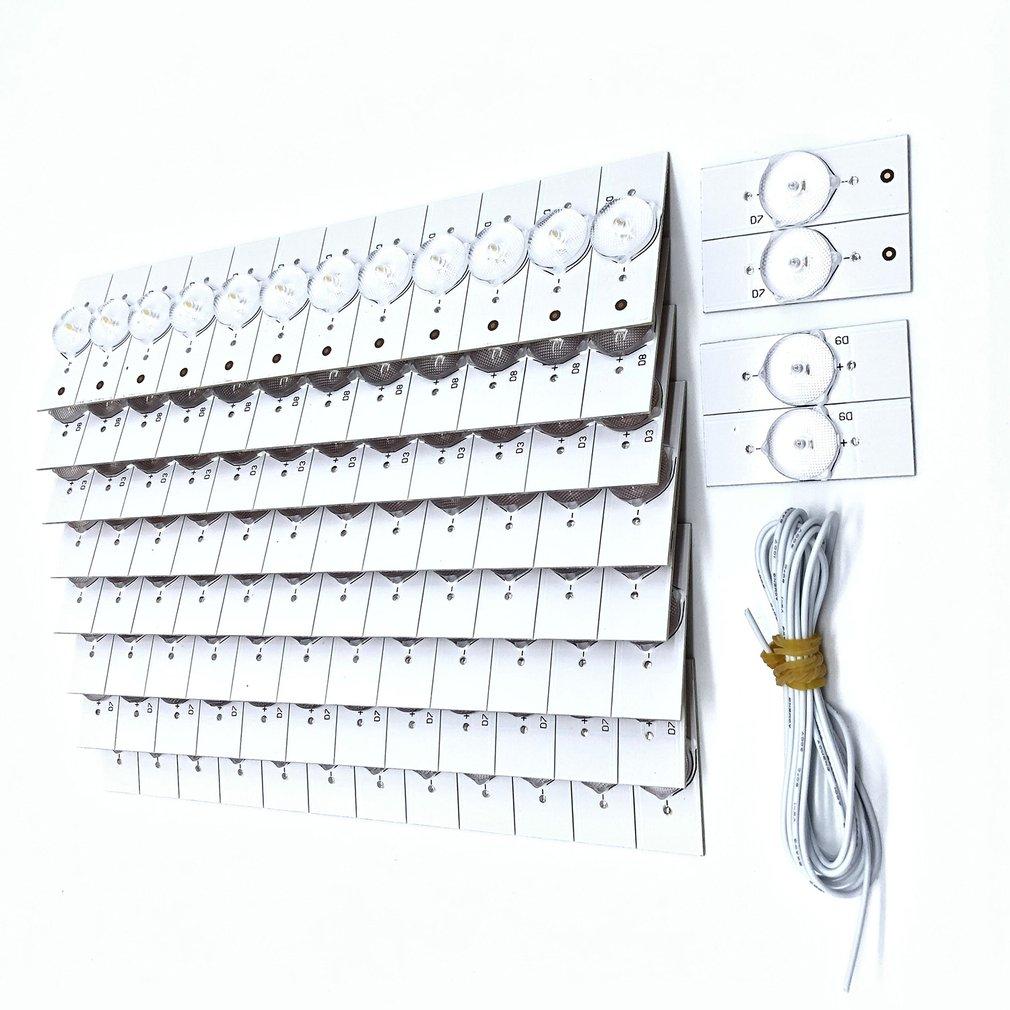 100Pcs 3V SMD Lamp Beads With Optical Lens Fliter Optical Lens Backlight Bead 3V Lens For 32-65 Inch LED TV Repair