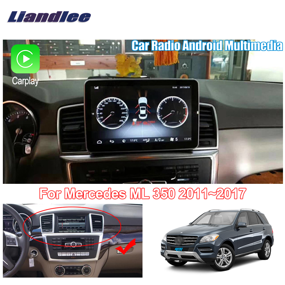 Liandlee для Mercedes Benz ML 350 2011 ~ 2017 Android автомобильный Радио плеер GPS Navi навигация карты камера OBD ТВ экран без cd dvd
