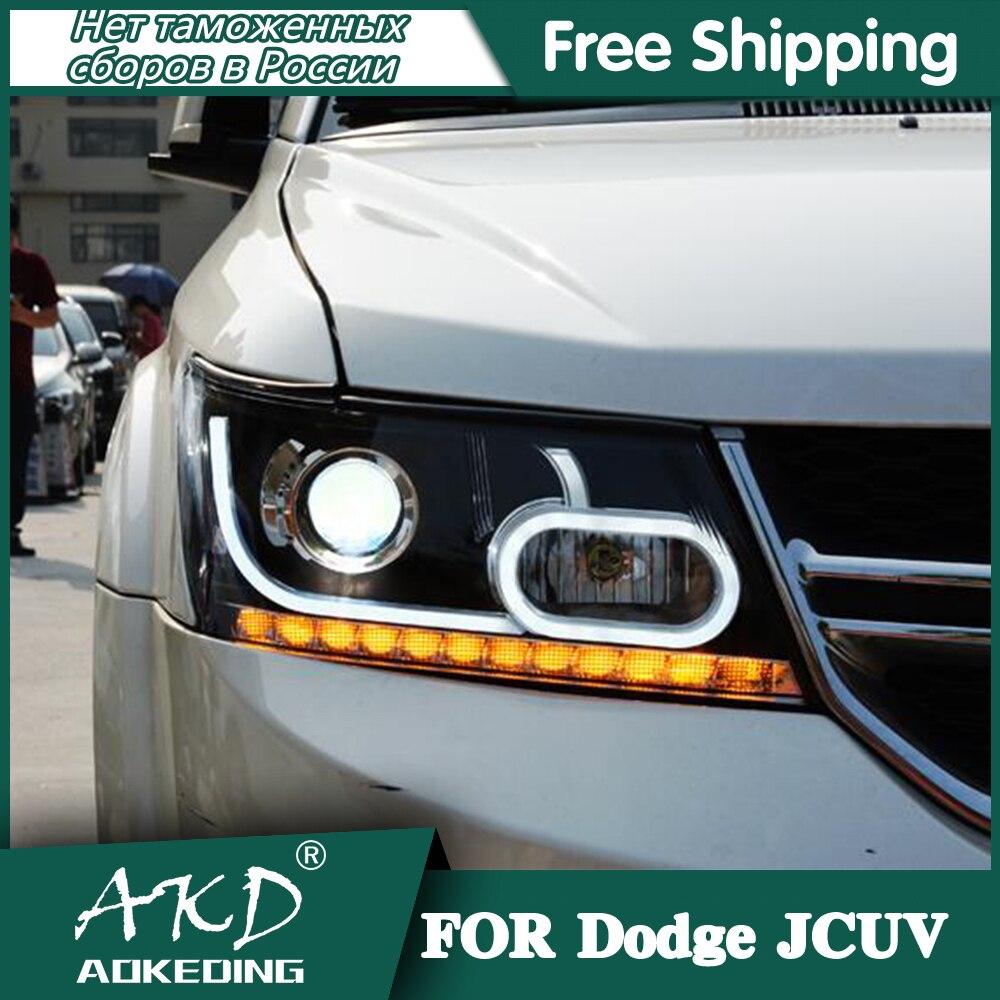 Headlights For Car Dodge Journey 2009-2017 Fiat Freemont Day Running Light Head Lamp LED Bi Xenon Bulb Fog Lights Car Accessory