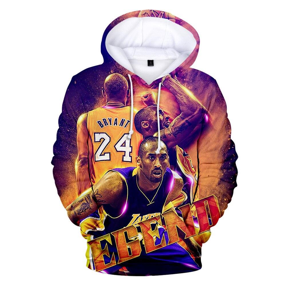 Kobe Bryant 24 3D Digital Print Hoodies Men Sweatshirt Hip Hop Mens Hoodies Clothing Casual Streetwear Hoodie