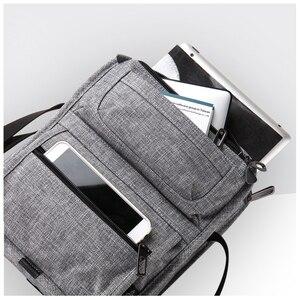 Image 4 - CAI sac à bandoulière multi poches pour tablette, Mini décontracté sacs décole pour adolescents garçons, sacs à main Fashion